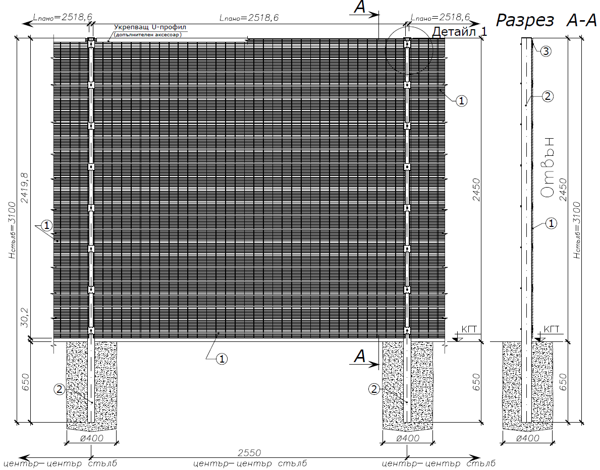 Оградни пана SECURIFOR 4D за обекти с висока степен на сигурност