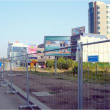 Мобилна ограда F2 при изграждане на метростанция на бул. Цариградско шосе, София