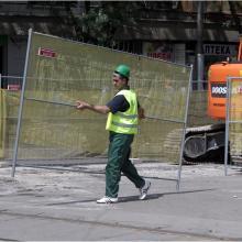 Мобилна ограда F3 - ремонт на бул. Дондуков, София