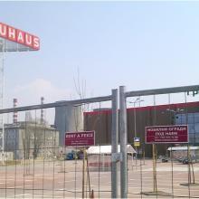 Мобилна оградa F2 - строеж на хипермаркет BAUHAUS