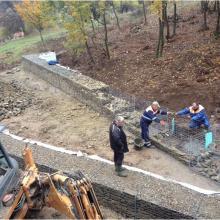 Подпорна стена от Габиони - с. Боснек
