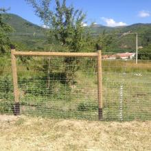Оградна система URSUS с дървени стълбове