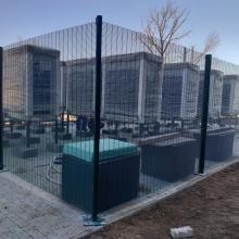 Оградна система SECURIFOR с BEKAFIX SUPER около ОВК-инсталации на търговски обект, София